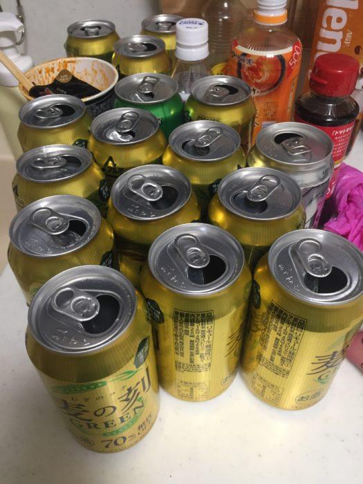 平日だろうがガンガン飲んでいる缶ビール