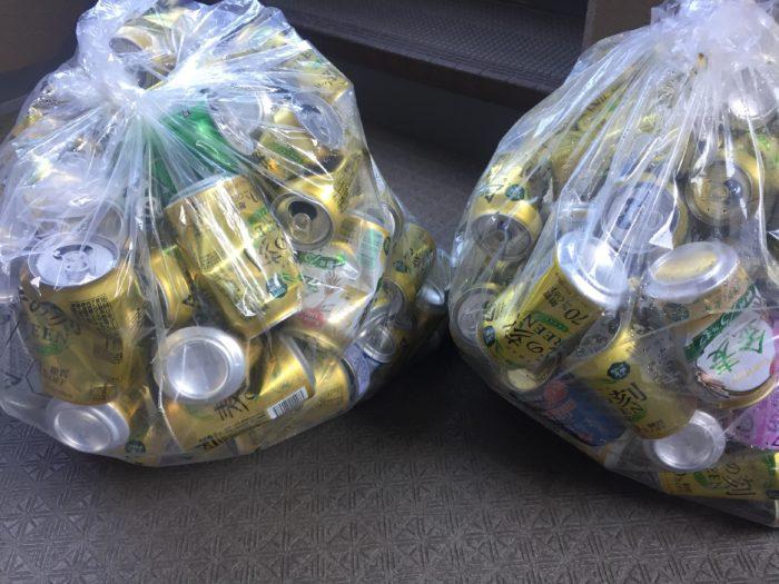 缶のゴミの日は毎週2袋