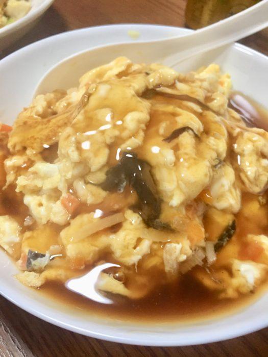 完成したかに玉天心飯は日本の中華の代名詞。