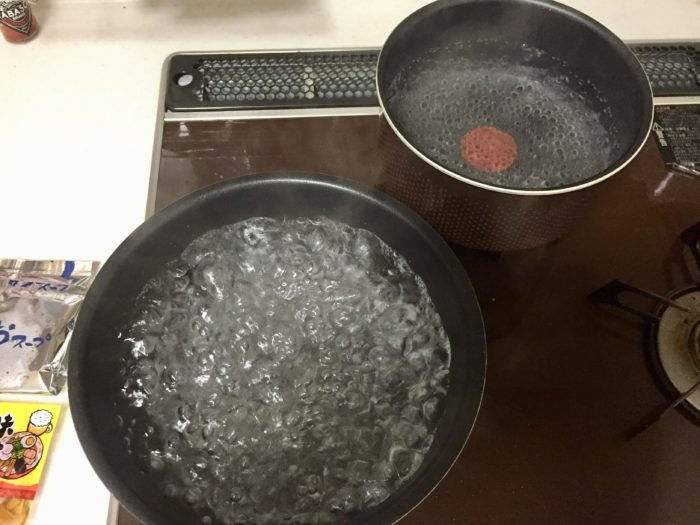 旭川とんこつ塩らーめん用の鍋