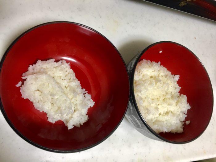鶏飯の具材を盛る前の白ご飯