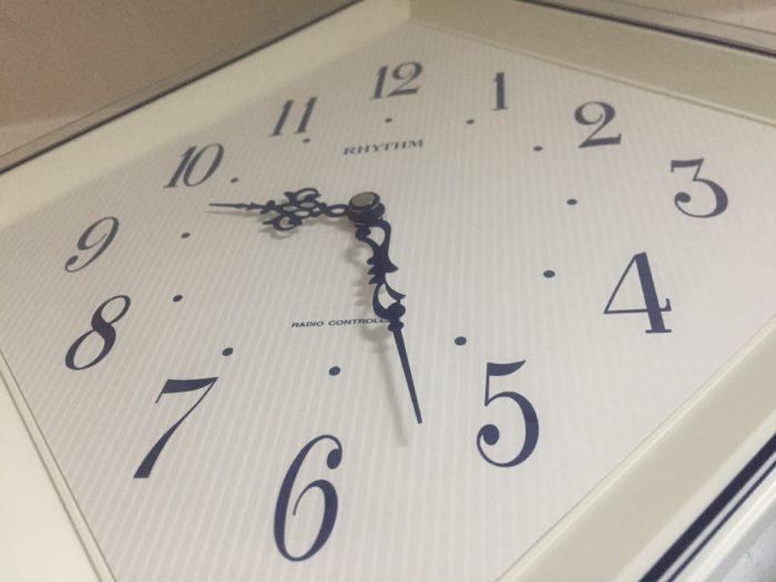 寝すぎたあとに時計を見てびっくり。