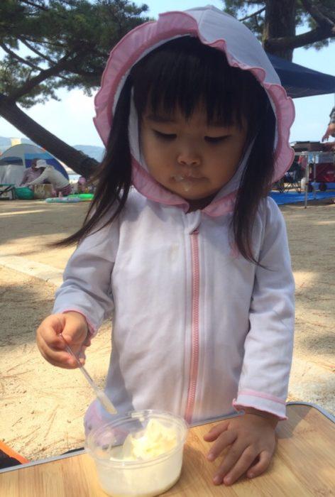 淡路島の海で遊ぶ
