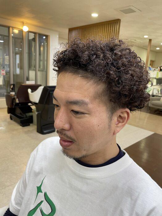 カット後の髪型!前から撮影
