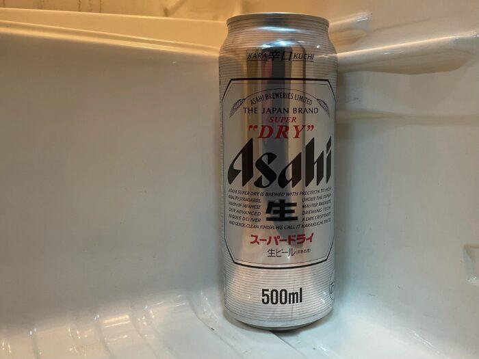 会社事務所で密かに冷やし続けている缶ビール