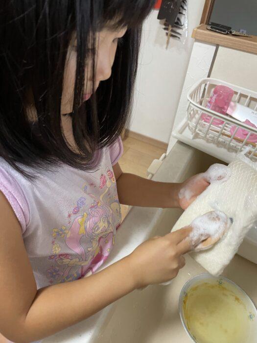 小さかった娘は洗い物まで出来るようになったというのに。