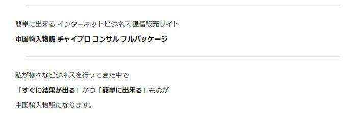 津田 勇/中国輸入物販 チャイプロ コンサル(フルパッケージ)