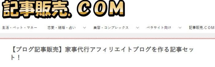 株式会社天空/家事代行アフィリエイトブログを作る記事セット!