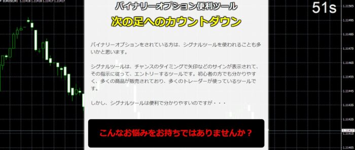 吉崎 佐次郎/バイナリーオプション便利ツール「次のロウソク足へのカウントダウン」